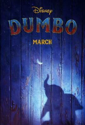 "DISNEY's DUMBO D/S 13.5""x20"" Original Promo Movie Poster MINT 2019 Tim Burton"
