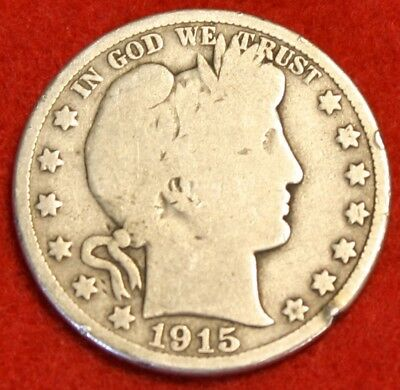 1915-D Barber Half Dollar G Beautiful Coin Check Out Store Bh407