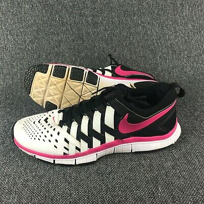 1eee28011200 Mens Size 12.5 Nike Free Trainer 5.0 TB White and Pink Running Shoes  Sneakers