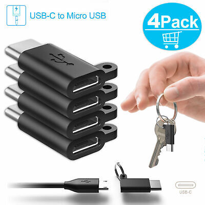 4x USB C Male to Micro USB Female Converter Connector [ USB 3.1 Type C Adapter ]