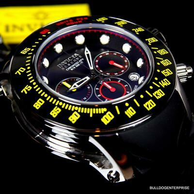 Invicta Reserve Subaqua Trackmaster Black Yellow Red 52mm Swiss Made Watch New