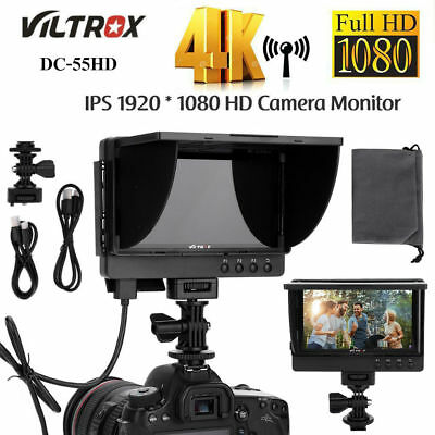 VILTROX DC-55HD 5.5inch IPS Screen HD Video Camera HDMI Monitor for DSLR Cameras