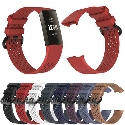 US For Fitbit Charge 3 Replacement Silicone Bracelet Wrist Watch Band Strap xi