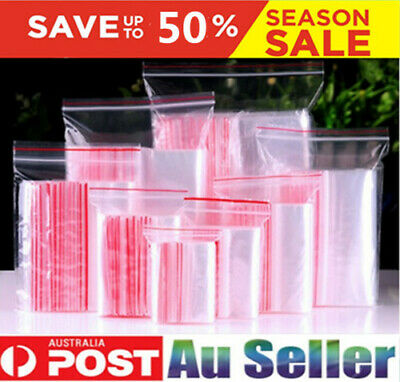 NEW Resealable Zip Lock Clear Plastic Bags Many Sizes FREE SHIPPING Bulk Buys