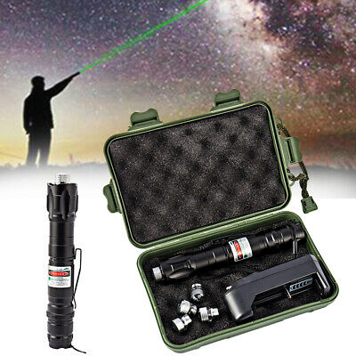Professional Laser Pointer Pen Boxed 1mw 532nm Green 5 Star Cap Focus Adjustable