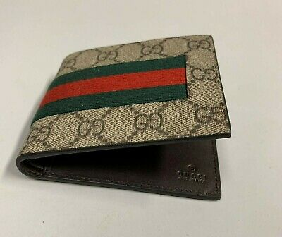 4446d16f4ab7 GUCCI CANVAS BI-FOLD wallet Men 100% Authentic used gently - $195.00 ...
