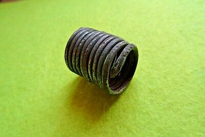Viking  Bronze Spiral Finger Ring Tin Plated