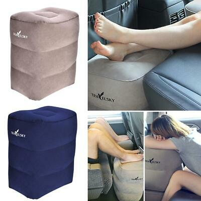 Inflatable Foot Rest Travel Air Pillow Cushion Office Leg Up Footrest Relax