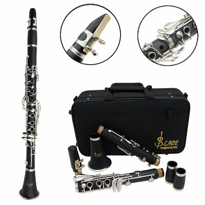 Slade 17 Key of Bb Student Band Clarinet BB Flat WHITE with Deluxe Case USA MX