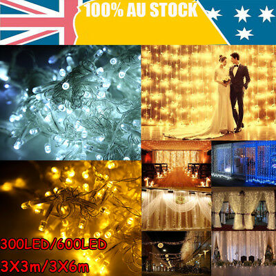 300/600Led Curtain/Net Fairy Light Wedding Indoor Outdoor Christmas Garden Party