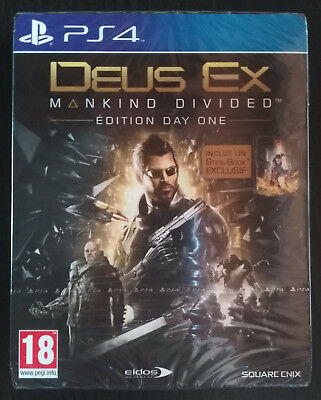 Jeux PS4 NEUF & Sous Blister - Deus Ex Mankind Divided (Steelbook Edition)