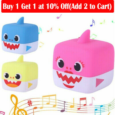 2019 Baby Shark Singing Cube Vinyl Toys With Music Square Doll Song Gift For kid