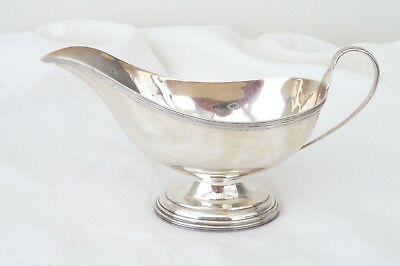 Antique George V Sterling Silver Sauce Boat Birmingham 1917 SW Smith & Co