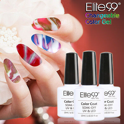 Elite99 Cambiable Esmalte Semipermanente Brillante Uñas en Gel Top y Coat Base