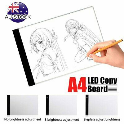 USB LED Drawing Pad Tracing Light Table Box Dimmable Artist Tattoo Stencil Board