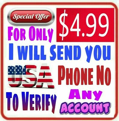 USA Phone Number to Verify your Account with One Verification Code