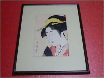Japanese Woodblock Print Ukiyoe Naniwaya Okita, from the series Utamaro modern