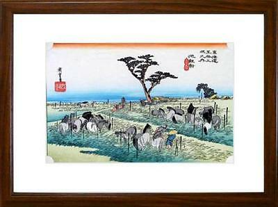 Japanese Woodblock Print Ukiyoe Early Summer Horse Fair (Chiryû, shuka uma ichi)