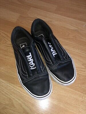 VANS X KARL Lagerfeld Slip Ons Used Size 6 With Box