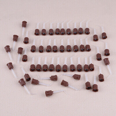 50pcs 37mm Dental Impression Mixing Tip Intra-Oral Tips Silicone Rubber Head