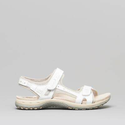 Earth Spirit FRISCO Ladies Womens Casual Open Toe Touch Fasten Sandals White