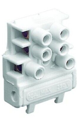 Clipsal FUSED TERMINAL BLOCK 250V 2A 3-Poles, Blue Point, 3-Terminal With Spigot