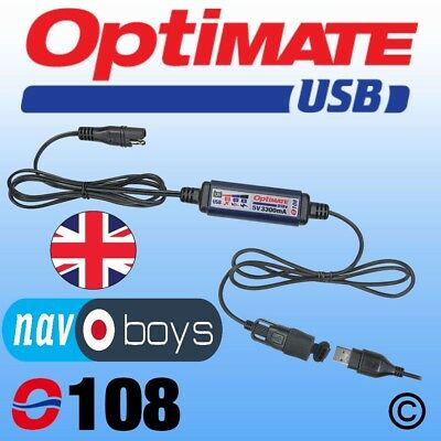 OPTIMATE O-108 USB Charger WITH FREE O-01 BATTERY LEAD!
