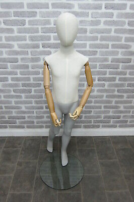 Child Vintage Style Articulated Mannequin Age 8 With Glass Base And Foot Fitting