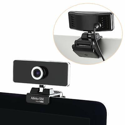 550 WEBCAM 1080P Full HD USB Web Camera Windows 10 8 7 XP Mac OS X Skype PC