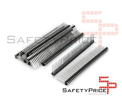 5x Doble Tira 40 Pines Macho 2,54 mm 19mm Electronica Arduino single row pin hea