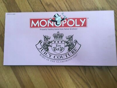 Monopoly JUICY COUTURE USA Limited Edition Board GAME Hasbro Parker Bros HTF NLA