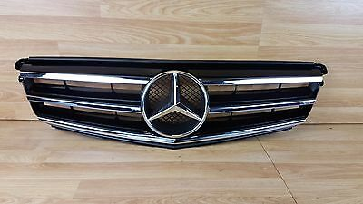 Mercedes C Class w204 07-14 black Chrome Sport AMG Front grill Grille