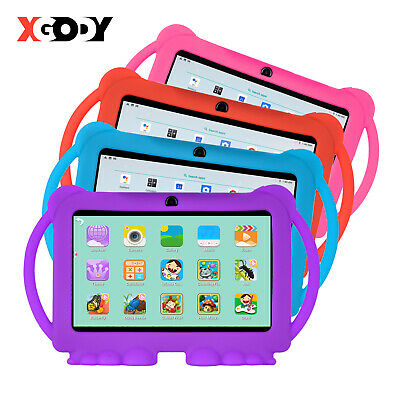 XGODY 7'' For Kids Android Tablet PC Bluetooth 8GB Quad-core 2*Cam WIFI Bundled