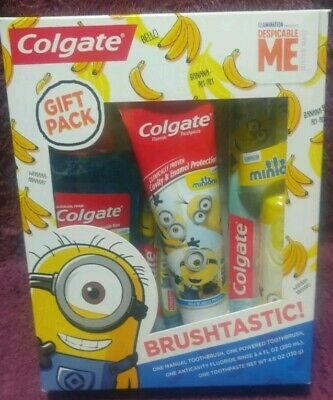 NEW Colgate Minions Despicable Me Value Pack Toothbrush/Toothpaste Mouthwash.