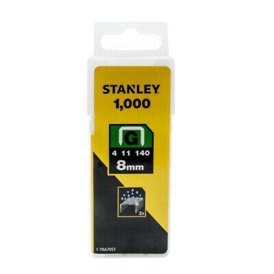 Stanley Sharp Shooter Heavy Duty Type G Staples 1000pc 6mm 8mm 10mm 12mm 14mm
