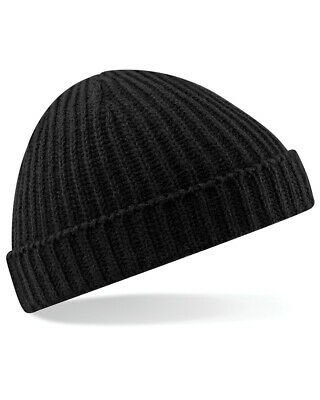 Beechfield Trawler Beanie Mens Fisherman Winter Hat