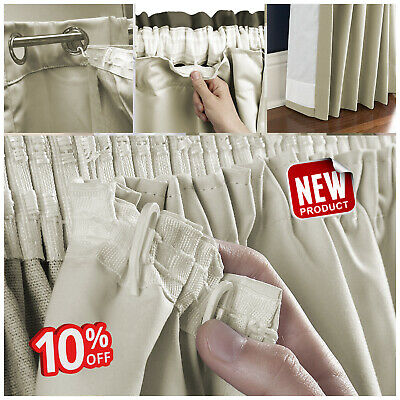 3 Pass Super soft Ready Made Eyelet/Pencil Pleat Blackout Thermal Curtain Lining