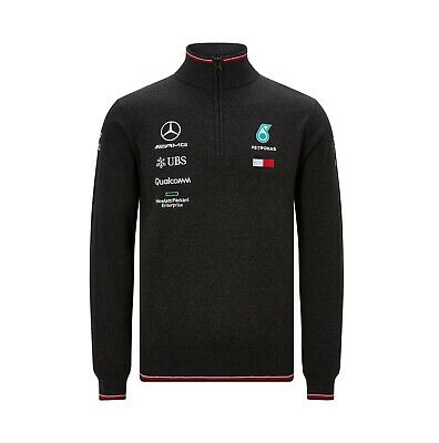 NEW 2019 Mercedes AMG F1 Team Lewis Hamilton Zip Knitted JUMPER Sweater Top MENS