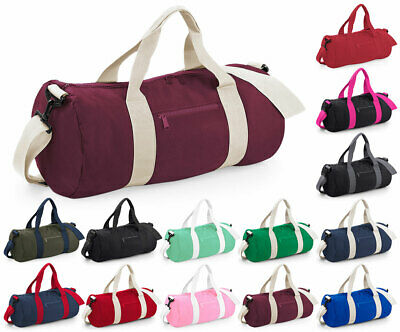 Bagbase Plain Gym Varsity Barrel Duffle Bag Training Bag