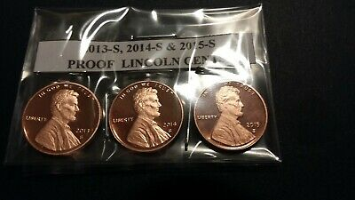2013-S, 2014-S, 2015-S, 2016-S, 2017-S  &  2018-S Proof Lincoln Cents -  6 Coins