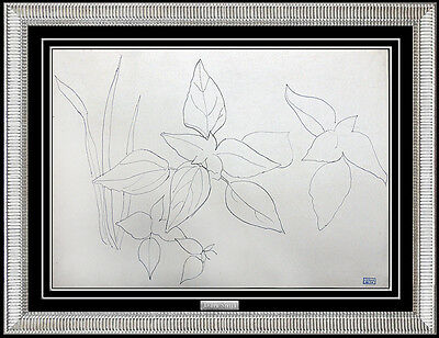 Joseph Stella Authentic Original Ink Drawing Floral Still Life Artwork Painting