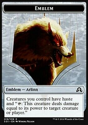 MRM FRENCH Emblem - Embleme Arlinn Embraced by the Moon MTG magic SOI