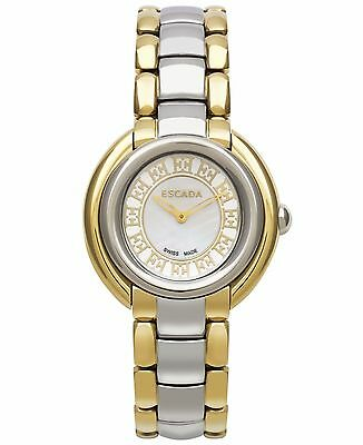 0c2093df6338 Escada Women's Swiss Ivory Two-Tone Stainless Steel Bracelet Watch NEW