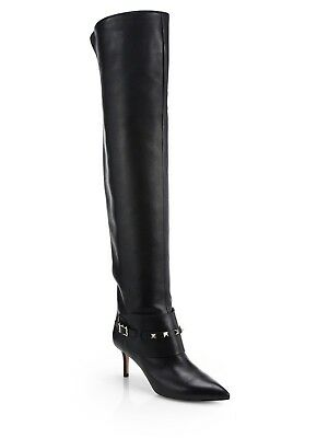 1611f583b49 NEW VALENTINO OVER the knee shiny leather boots -  394.35