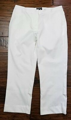 Womens Adidas Stretch Climacool White Crop Pants Size 4, Nice! (Inventory w12)
