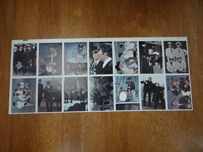 1964 Topps The Beatles Color 14 Card Blank Back Uncut Sheet