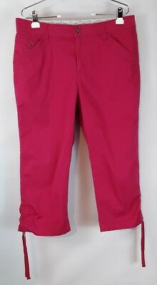 075a2e9f Lee classic comfort waistband women's size 16 regular pink stretch cropped  pants