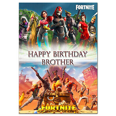 b473; Great Personalised Birthday card; *With ANY name age text*;FORTNITE