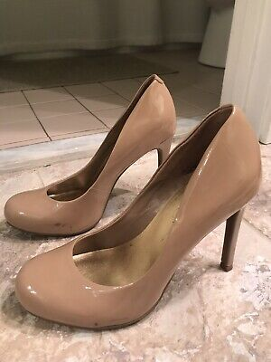494442b14ad JESSICA SIMPSON CALIE Womens Pump Nude Beige Tan Preowned Size 6.5 ...