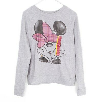 NWT Disney Minnie Mouse Heathered Grey Long Sleeve Womens Small AG
